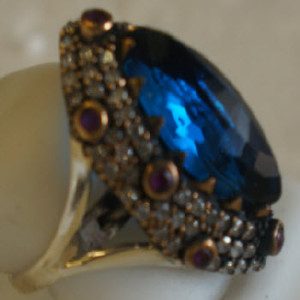 Silver Ring Blue Topaz